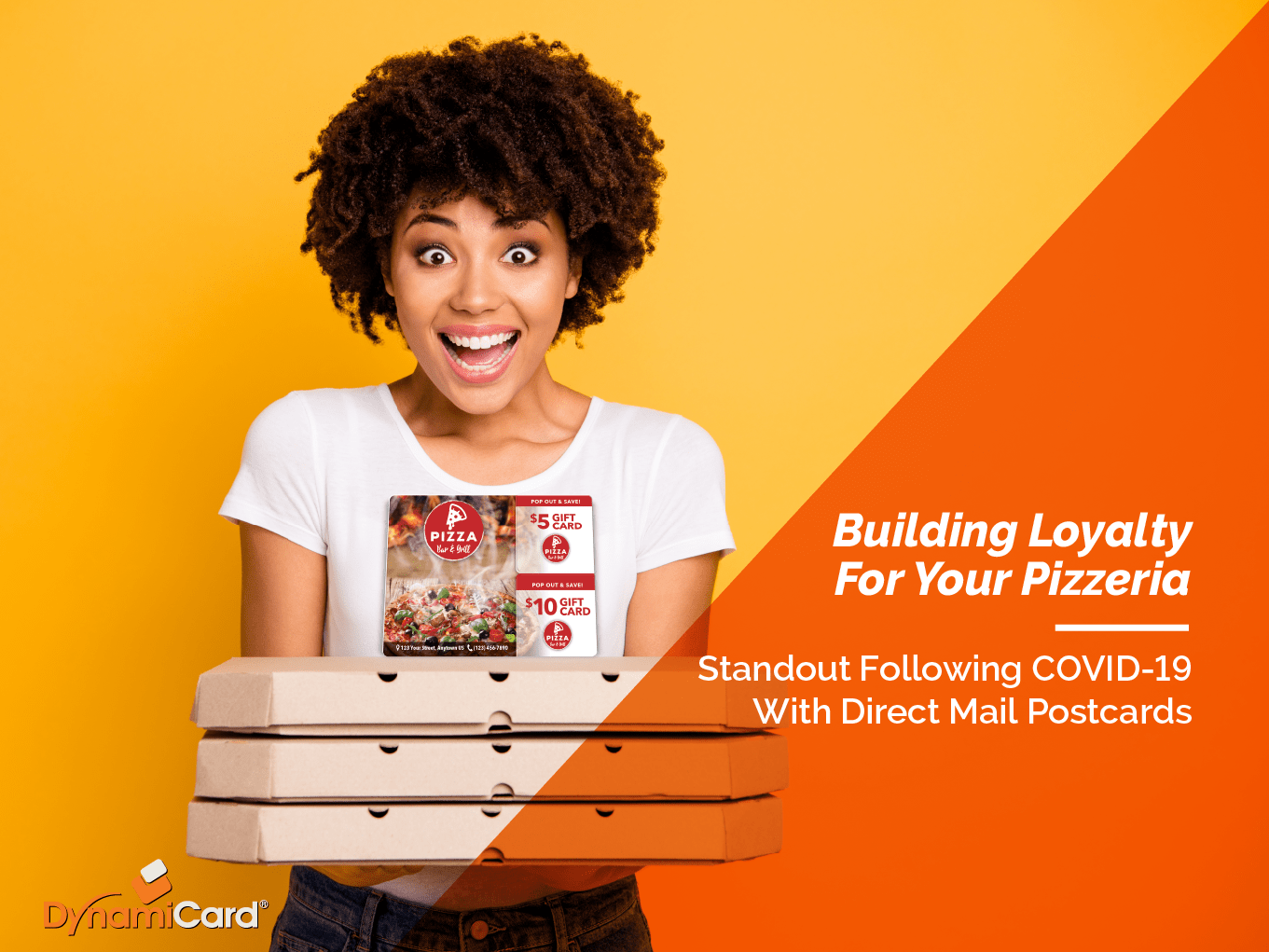Pizza Direct Mail Postcards